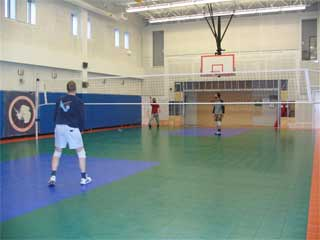volleyball in the gym