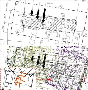 GPR survey map of Old Pole