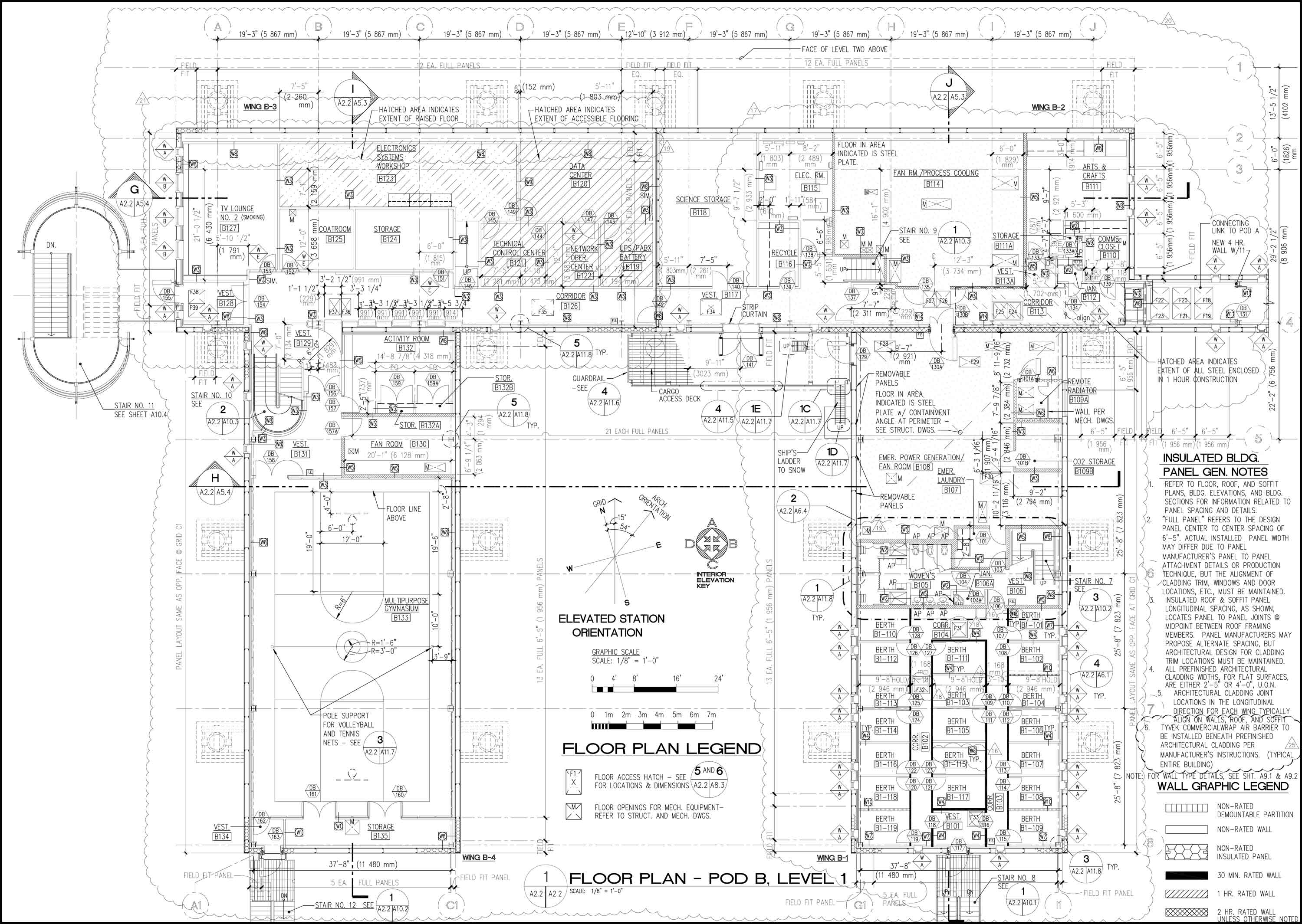 Elevated Station Site Plan And Layout Power Plant Design B Pod Level 1