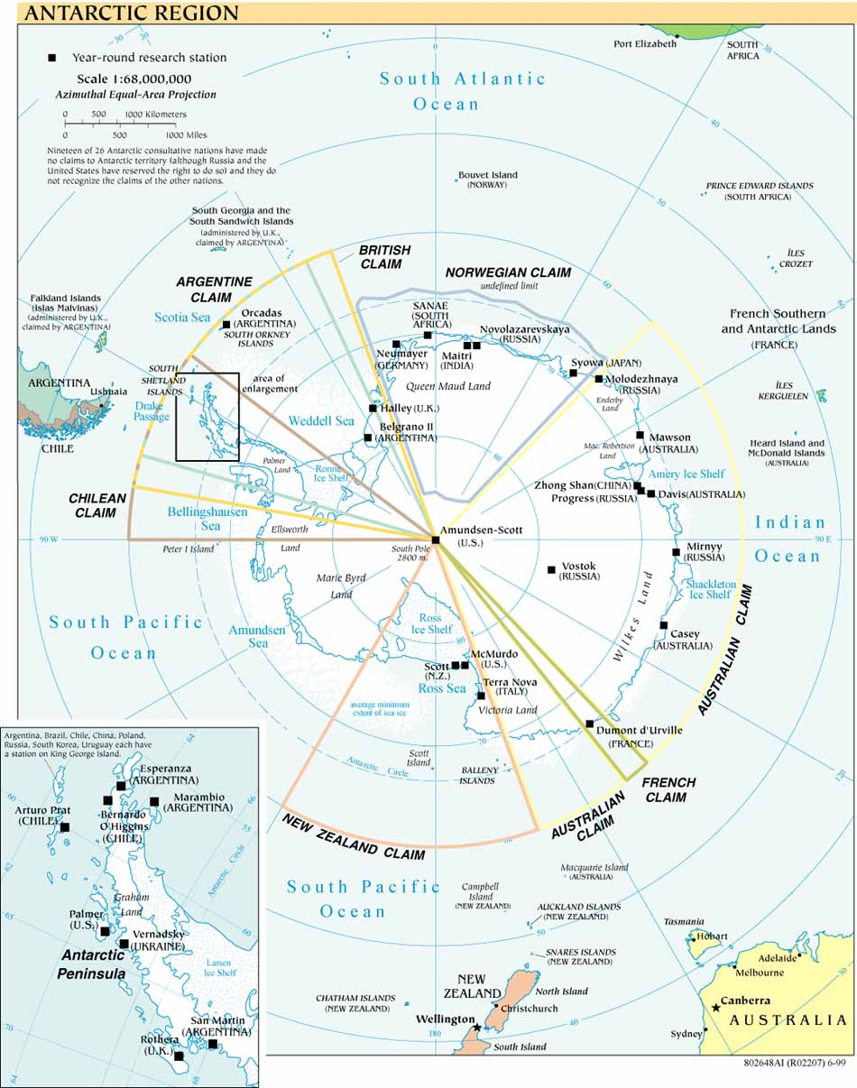 South Pole aerial views and site plans