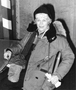 Ruth Siple at Pole