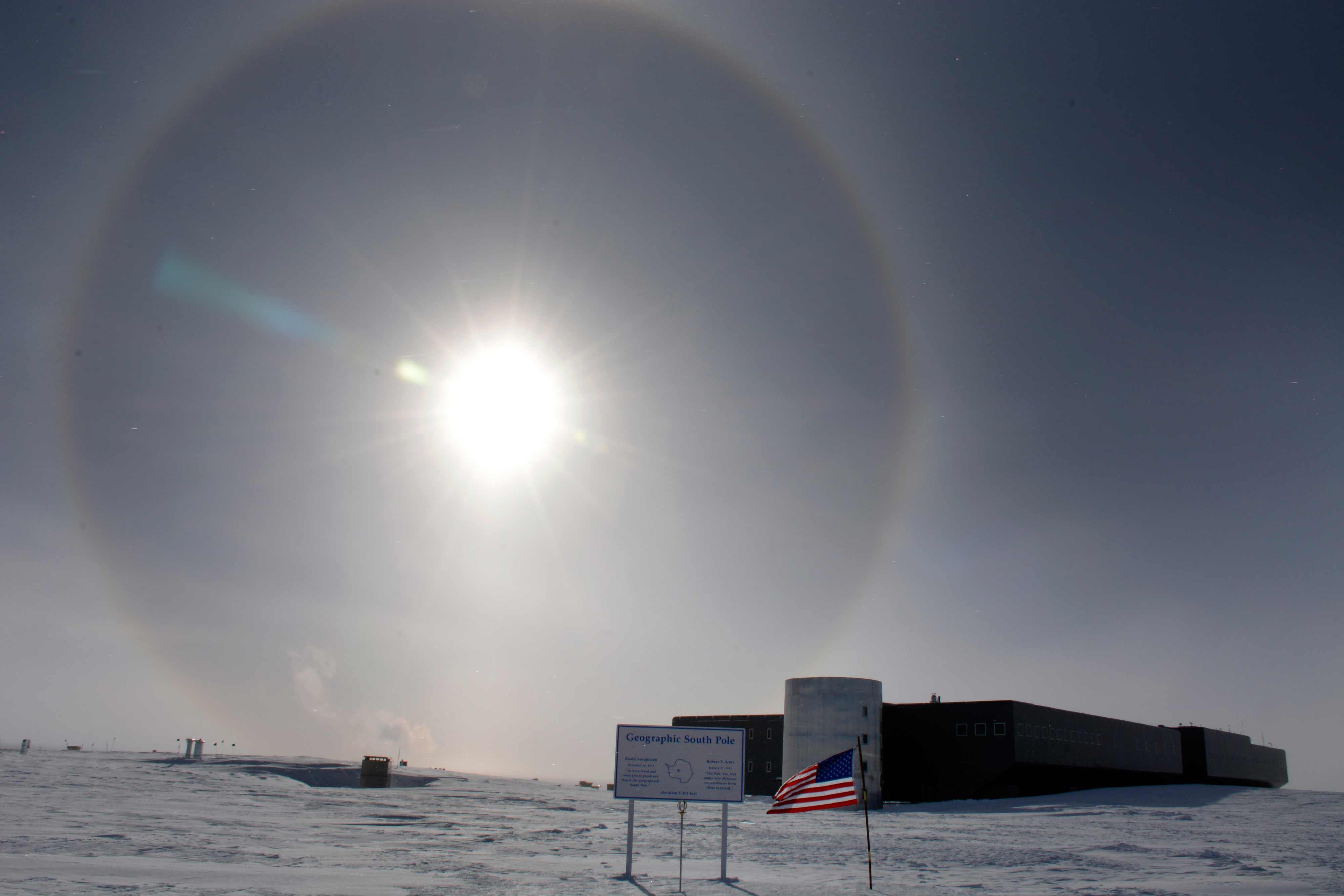 Antarctic station at the South Pole Amundsen