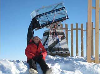 Dr. Jefferies at Pole in January 2008
