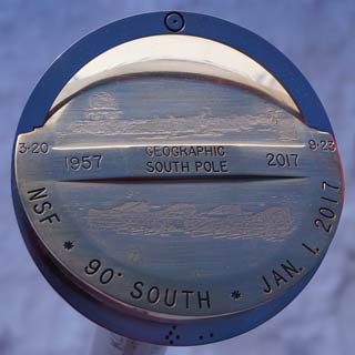 the 2017 South Pole marker