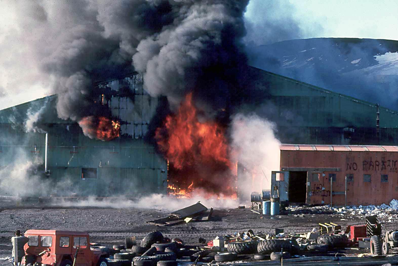 Mcmurdo Garage Fire