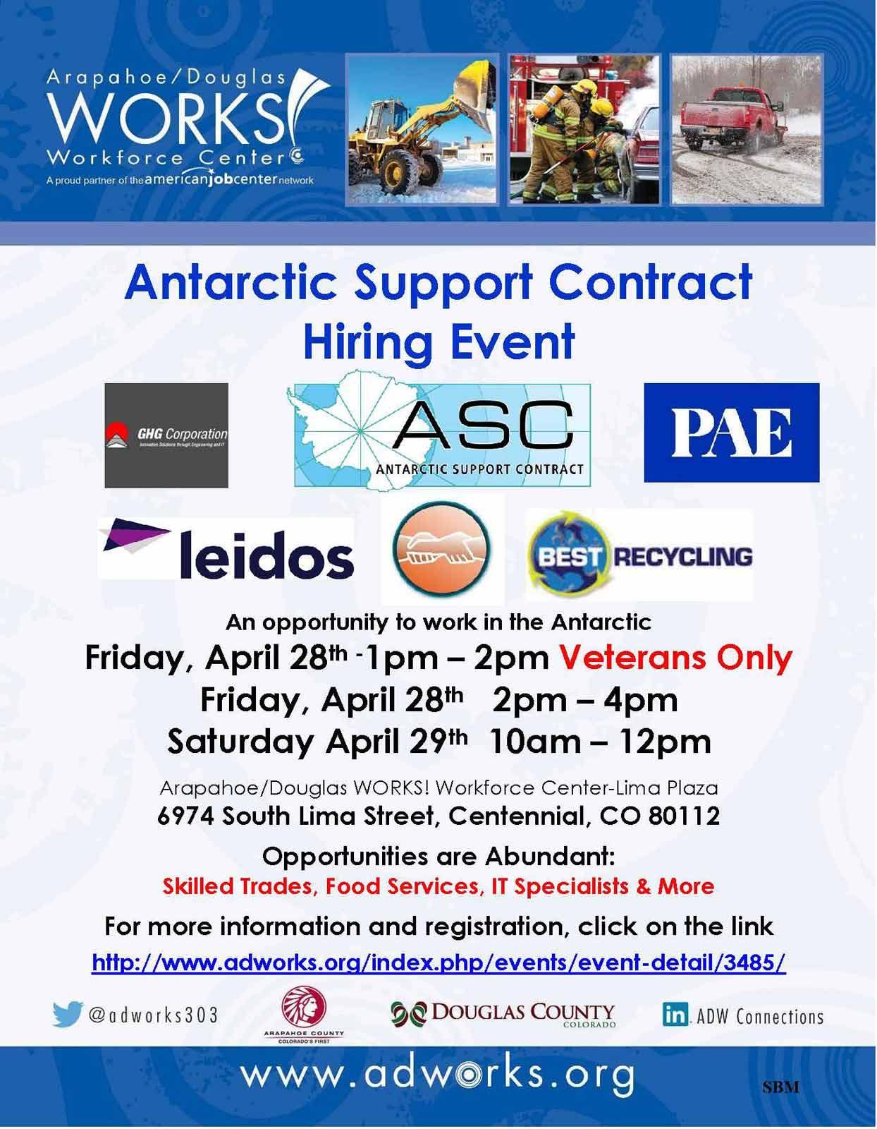 antarctic jobs job fair poster